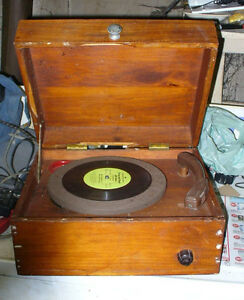 1940s or 50's  small portable record player