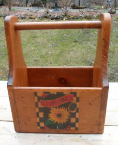 Solid Wood Rustic Tool Box
