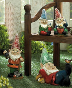 Solar Gnome Yard Statues 2 Different Choice Brand New