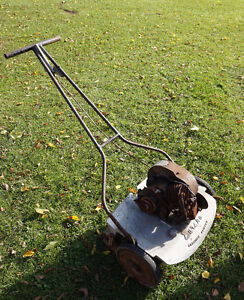"Antique lawnmower ""Eureka Clipper"" Made in Woodstock Ontario"