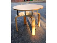 Ikea two level round coffee table side table
