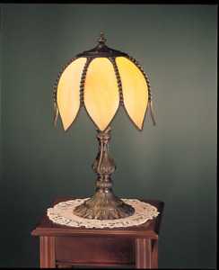 Handcrafted Tulip Tiffany Table Lamp