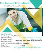 New Beginnings Cleaning Services/Cleaner Available