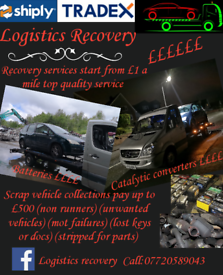 Logistics recovery and unwanted vehicle collections