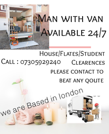 24/7 MAN WITH VAN HOUSE REMOVAL CHEAP PRICE