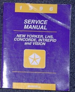 1996 Chrysler New Yoprker Concorde Intrepid & Vision Service Man