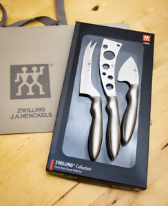 $95 PERFECT GIFT - HENCKELS 3 PIECE CHEESE KNIFE SET