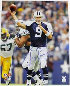 Cowboys Tony Romo Signed Authentic 16x20 Photo Autographed Psa/Dna