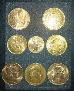 GOLD COINS FOR SALE IN ONE LOT (9 items)