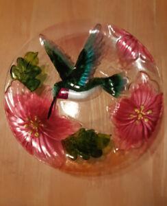 Colorful Handmade Glass Fruit Bowl
