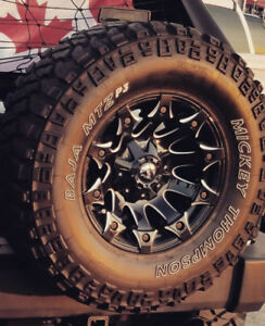 5pcs FUEL battle axe Rims and Micky Thompson MTZ P3 35s tires