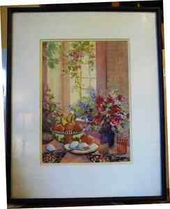 """A Morning Table by Nell LaMarsh """"Morning, By the Window"""" 1970's Stratford Kitchener Area image 1"""