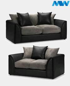 Byron 3 + 2 Black and jumbo grey