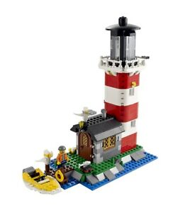 2 Sets:  LEGO Creator 3-in-1:  Lighthouse Island and Log Cabin