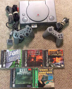 Playstation 1 with 2 Controllers and 5 Games!!  Also PS1 Slim!