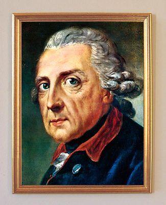 FRIEDRICH DER GROßE PORTRAIT VON ANTON GRAFF HOHENZOLLERN LEINENFAKSIMILE 151