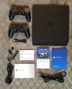 PS4 500GB Console and 2 Dual Shock Controllers