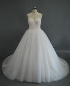 WEDDING DRESS- sweetheart, corset back, tulle skirt