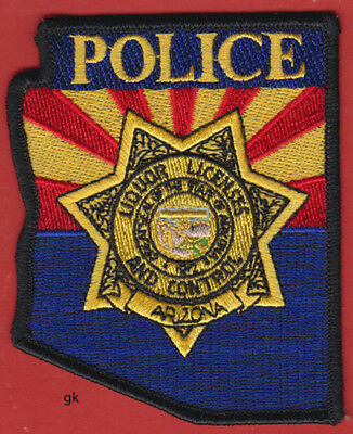 ARIZONA POLICE  LIQUOR CONTROL STATE SHAPE PATCH