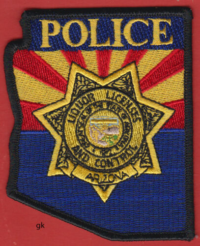 ARIZONA POLICE  LIQUOR CONTROL STATE SHAPE SHOULDER PATCH