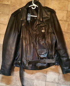 Classic leather motorcycle jacket Sarnia Sarnia Area image 1