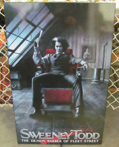 Laminated Movie Poster - Johnny Depp at Sweeney Todd
