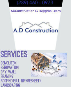 Construction Company. Quality work, Compassionate prices