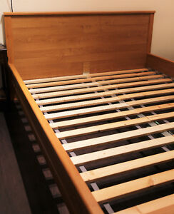 DELIVERY - IKEA QUEEN BEDFRAME with SERTA MATTRESS