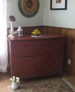 Beautiful, Antique Farmhouse SideBoard~ChalkPainted~UPcycled!