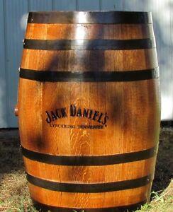 Original Jack Daniels branded oak whiskey barrels for sale!