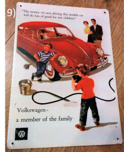 Volkswagen (VW) A Member of the Family Ad Metal Sign