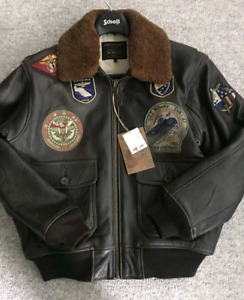 SCHOTT WINGS OF GOLD SZ XSMALLPATCH JACKET PAID $1150 ONLY$700!