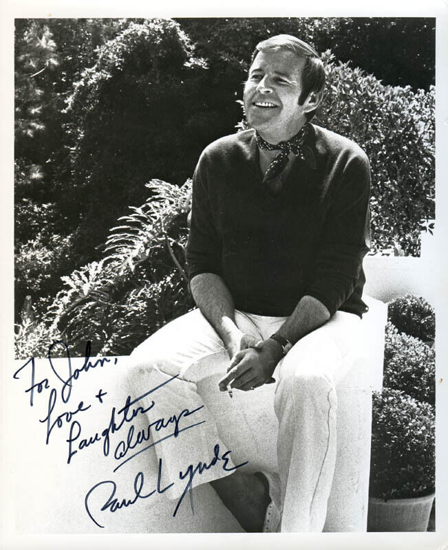 PAUL LYNDE - INSCRIBED PHOTOGRAPH SIGNED