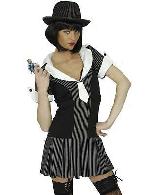 Gangster Braut Kleid Kostüm Mafia 20er Jahre Al Capone Damen Gangsterkostüm Girl ()
