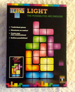 Tetris interchangeable light!  Video game fun!