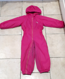 Trespass padded pink puddlesuit age 2-3 years