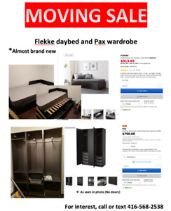 Ikea Daybed and Pax Wardrobe Set $450 OBO *Like new condition*