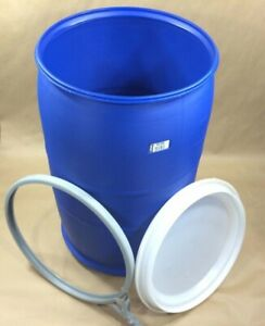 Food grade plastic barrel/drum 55 gallon with open