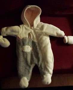 Cozy baby snowsuit
