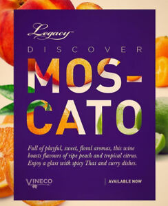 Introducing Legacy Moscato at Hops N Grapes Supplies Elmsdale