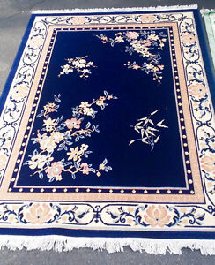 Set of 3 blue rugs
