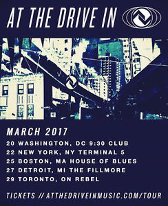 At The Drive-In in Toronto March 29