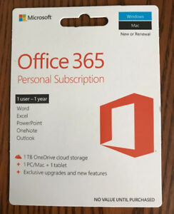 *NEW PRICE* microsoft office 365 personal subscription
