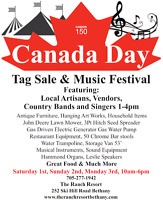Music Festival and tag sale
