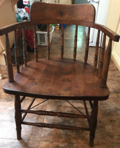 6-Antique Wood Captain's chairs-$60 dollars each