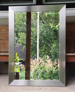 LARGE BEVELED GLASS MIRROR - REDUCED!