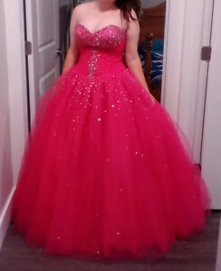 Hot Pink Mori Lee Prom Gown size 5/6 (adjustable)