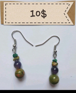 5 DIFFERENT EARRINGS MADE OF GEMSTONES 10$ OR 2 at 15$