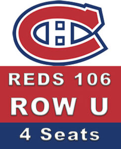 4 SEATS CHEAP BELOW COST Montreal Canadiens - Minnesota Wild