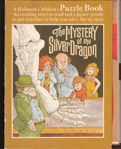 Book and Puzzle : Mystery of the Silver Dragon : Exc Condition